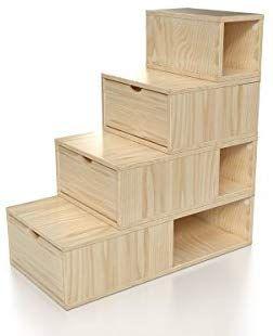 Abc Meubles Escalier Cube De Rangement Hauteur 100 Cm Esc100