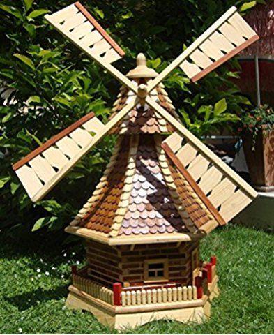 Xxl Windmuhle Windmuhlen Garten Mit Holzschindeldach Ohne Premium 2x Solarbeleuchtung Zubehor Kugelgel Windmuhle Garten Landschaftsdesign Garten Design Plane