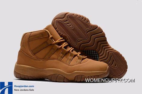 """brand new 257a9 9698d """"Wheat"""" Air Jordan 11 Retro Premium Ginger Gum Yellow Best   Tenis   Air  jordan shoes, Nike air jordans y Air jordans"""