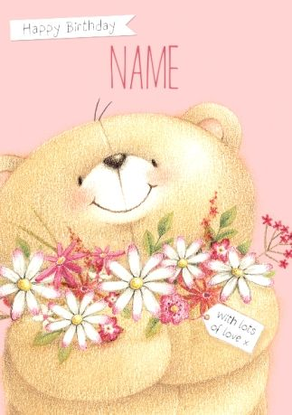 Forever Friends Flower Birthday Card Happy Birthday Forever Friend Birthday Cards Flower Birthday Cards