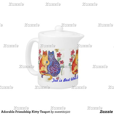 Shop Blue Butterfly Teapot created by SayHello.