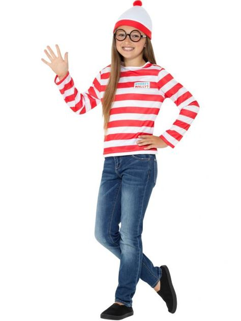 Where/'s Wally Instant Kit Kids Fancy Dress Book Day Week Childs Kids Costume Set