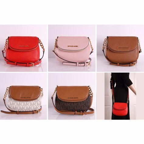 a5f4769de471 NWT Michael Kors Bedford Flap Crossbody Bag Small Leather PVC Shoulder  Handbag  MichaelKors  Crossbody