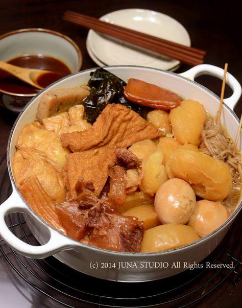 Japanese oden hot pot おでん