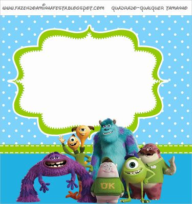 Monster University: Free Printable Labels, Free Printables and Toppers.