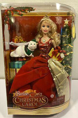 2008 A Christmas Carol Eden Starling Mattel Barbie Doll N8384 Nrfb Ebay In 2020 Mattel Barbie Barbie Dolls Christmas Carol