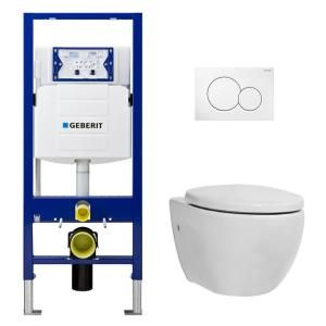 Geberit 8 1 6 Gpf Dual Flush 2 Piece Elongated Icera Toilet W Concealed Tank For 2x6 Construction And Dual Flush Plate In White C 6610 01kit2x6 The Home Depo In 2020 Wall Hung Toilet Wall Mounted Toilet