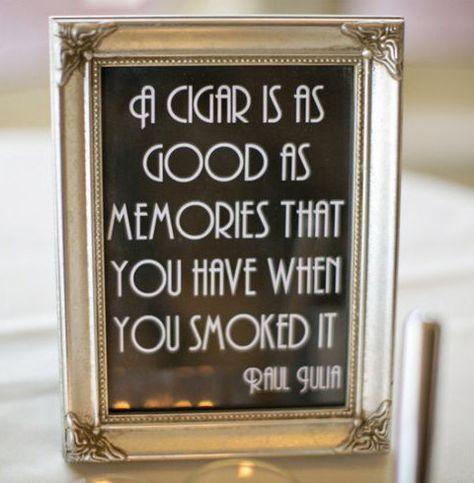 Printable Cigar Bar Quote Sign Wedding Reception by BobbiBDesigns