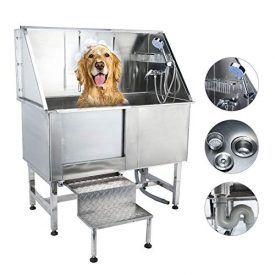 Co Z 50 Inches Professional Stainless Steel Pet Dog Grooming Bath
