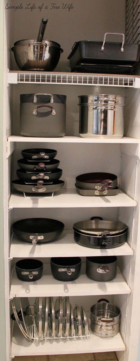 Cookware pantry; cookware organization www.simplelifeofafirewife.com