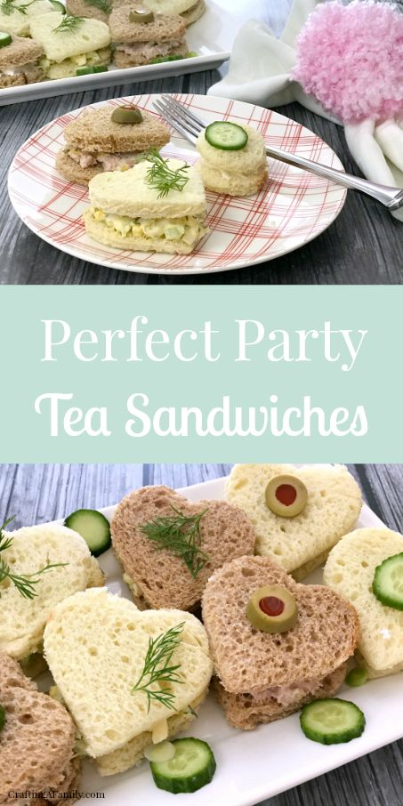 finger foods Adorable little Heart Tea Sandwiches are perfect for Valentines Day party, or any lunch party. Adults Love them because they are finger food, but your kids will love the cute Tea Party Sandwiches Recipes, High Tea Sandwiches, Party Recipes, Easy Finger Sandwiches, Bridal Shower Sandwiches, Recipes Dinner, English Tea Sandwiches, Birthday Recipes, Cucumber Tea Sandwiches