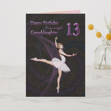 Niece birthday card ~ Princess or Ballerina design