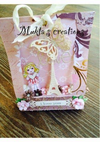 Mukta's creations: 3D LOVE TAG