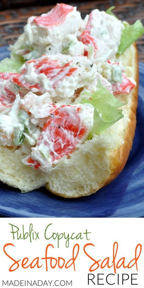 Seafood Salad Seafood Salad Imitation Crab Shrimp Salad Recipe My Favorite Seafood Salad Recipe Publix Which Wich Copycat Crab Surimi Shrimp Mayo Make This Deli Favorite At Home With This Recipe Neptune Salad Crab And Shrimp Salad Recipe, Sea Food Salad Recipes, Fish Recipes, Healthy Recipes, Crab Pasta Salad, Appetizers, Eating Clean, Caldo De Res, Bon Appetit
