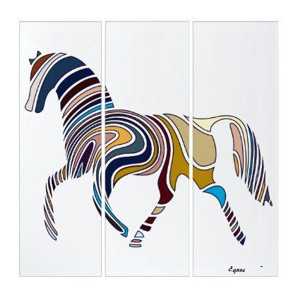 Triptych Wall Art Equus Zazzle Com Triptych Wall Art Unusual Wall Art Triptych