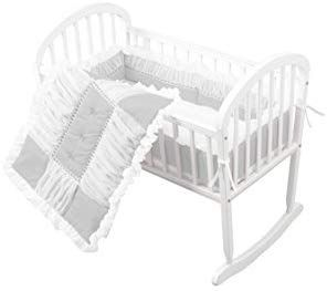 Amazon Com Baby Doll Sweet Touch Baby 3 Piece Cradle Bedding Set