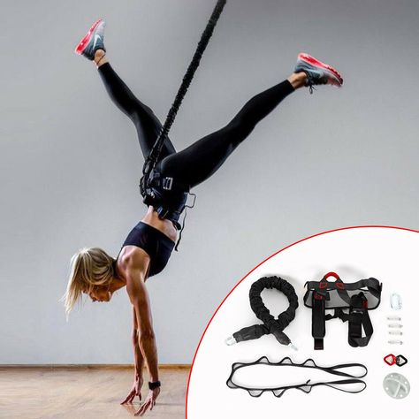 Weight Class -2 DASKING Heavy Bungee Cord Resistance Belt for Home Gym Yoga Bungee Rope Gravity Bungee 4D Training Pro Tool Ideal for Home Gym Studio