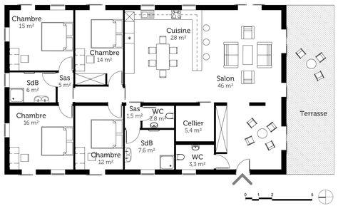 Résultats de recherche du0027images pour « maison plain pied 4 chambres