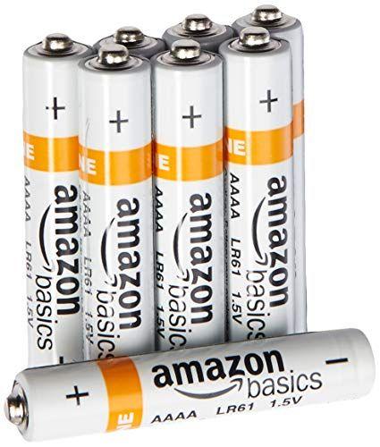 Amazonbasics Aaaa Everyday Alkaline Batteries 8 Pack Alkaline Battery Battery Pack Batteries