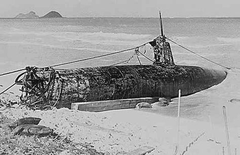Pearl Harbor Wrecks Today | Wreck of a Japanese midget submarine near Pearl Harbor