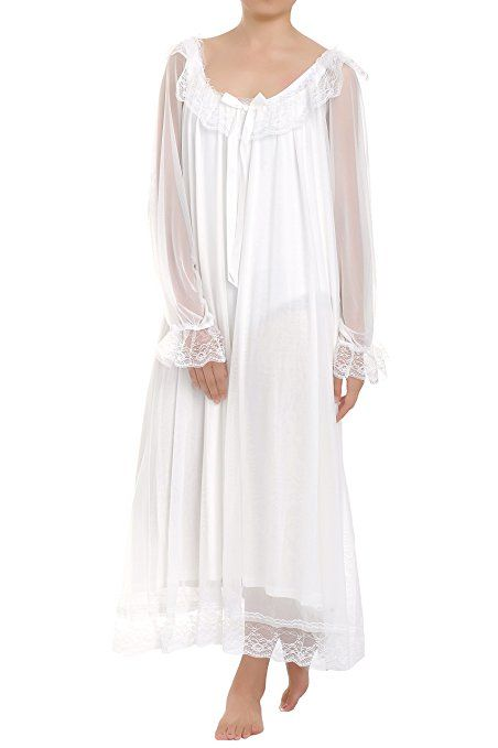 Victorian Nightgowns Nightdress Pajamas Robes Party Dresses