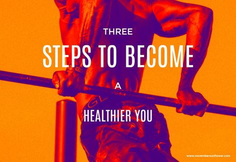 Sometimes the thought of living a healthier lifestyle can be overwhelming. Once it feels like a big deal, we often don't even start. Today we're sharing 3 simple steps to start your healthier lifestyle journey. #healthierhabits #healthierlifestyle #healthiermind #healthierbody #healthtips
