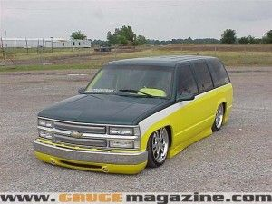 1996 Chevy Tahoe Dropped Gauge Magazine Chevy Tahoe Chevy Shaved Door Handles