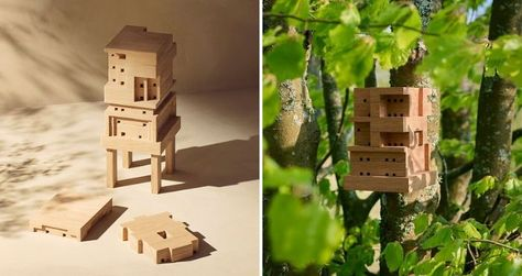 In celebration of World Bee Day, which is held annually on May 20th, IKEA offers a free open source design that allows everyone to build a bee home.