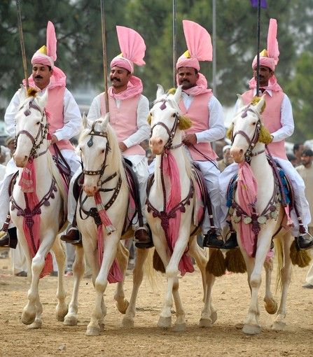 Horse riders warmup their horses during a tent pegging competition in Islamabad on Sunday. The tent pegging competition in Pakistan's capital city Islamabad is taking place for the first time since 2004     (Farooq Naeem, Getty / March 18, 2012) (via Photos in the news - chicagotribune.com)