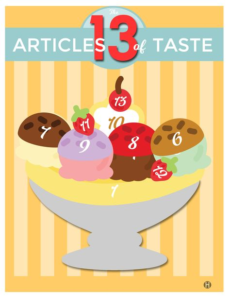 The 13 Articles of Taste – The Gospel Home