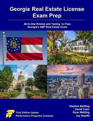 Features Of Georgia Real Estate License Exam Prep Ga Relep National Principles Amp Law Key Point Review 45 Real Estate Exam Real Estate License Exam Prep