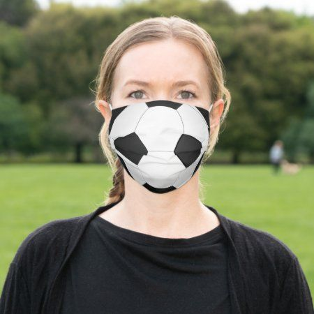 Soccer Ball Cloth Face Mask Zazzle Com In 2020 Soccer Ball Soccer Face Mask