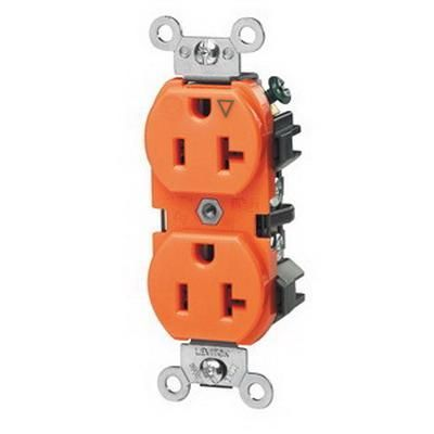 Leviton 5362 Ig Industrial Specification Grade Extra Heavy Duty Impact Resistant Straight Blade Duplex Receptacle 20 Amp 125 Leviton Straight Blade Receptacles