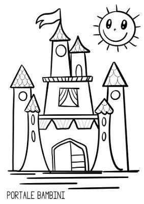 Disegni Di Castelli Da Stampare E Colorare Gratis Portale Bambini Disegno Di Castello Disegni Disegni Da Colorare