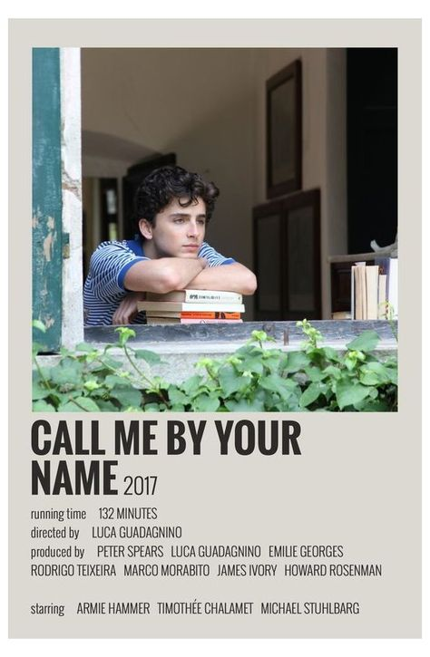 call me by your name minimalist poster