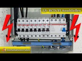 Unterverteilung Aufbau Verdrahtung Schaltplan Ls Rcd Fi Anschliessen Youtube Schaltplan Elektroinstallation Elektroinstallation Haus
