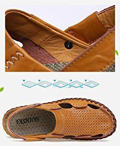 24e913beef4fd Amazon.com | Leader Show Men's Summer Close Toe Flat Sandal Casual ...