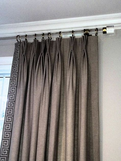 These chic lucite curtain rods are absolute perfection! #luxholdups #lucite