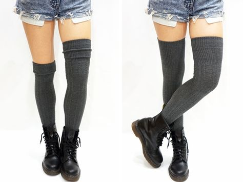 ced16797eb370 Cozy Cable Knit Thigh high socks Boot socks Free Size