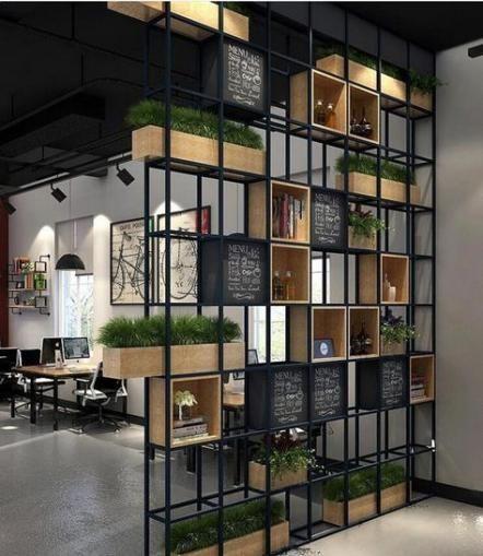 Wall Partition Cafe 67 Ideas Ikea Room Divider Metal Room Divider House Design