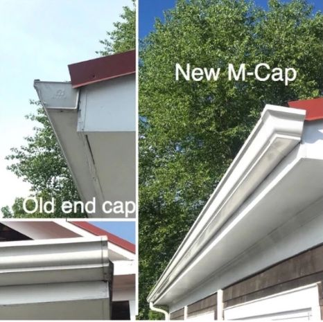 M Cap Gutter End Cap Gutter Installation Gutter Accessories How To Install Gutters Gutter Accessories Gutter