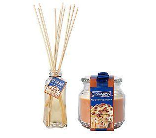 Cinnabon 15.75oz. Jar Candle and 5oz Diffuser Set by Valerie
