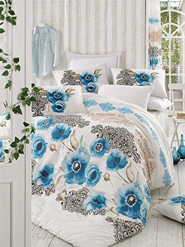Dose Of Modern Merve Turquoise Ranforce Single Quilt Cover Set De 172prl08471 White Black Blue Beige Quilt Cover Sets Quilt Cover King Quilt