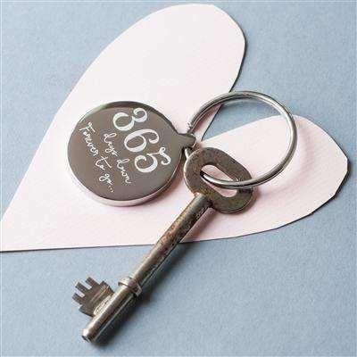BETTER HALF Wife Husband Married Wedding Keyring Keychain Key Stainless Steel