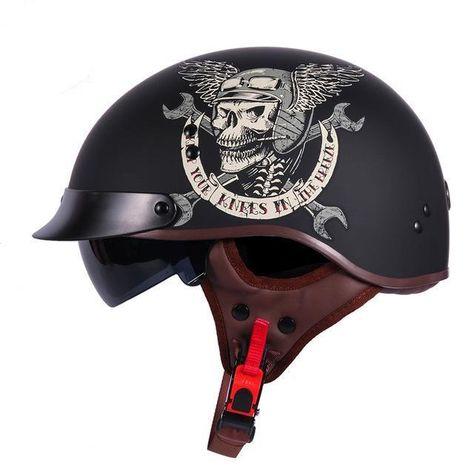 Dot Certified Half Face Retro Motorcycle Helmet C W