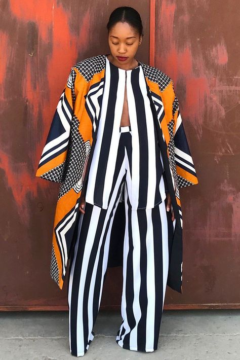 Add to Wishlist This Mustard Mangishi Doll Kimono Is The Update Your Wardrobe Is Begging For BN Style African Inspired Clothing, African Print Fashion, African Fashion Dresses, Fashion Prints, Africa Fashion, African Prints, Ankara Fashion, African Fabric, African Attire