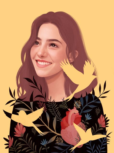Mercedes deBellard, Portrait Illustrator | Folio illustration agency