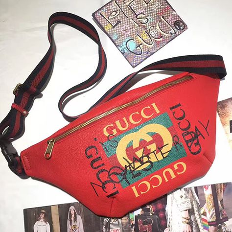 deaeaf8021a Gucci Coco Capitan Logo Belt Bag Red 493865