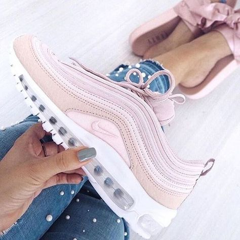 outlet store 060a5 5529e Nike Air Max 97 Femme Premium Rose Snakeskin Silt Rouge Blanc