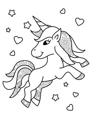 Adorable Unicorn Coloring Pages